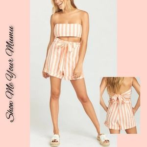 NEW SHOW ME YOUR MUMU DREAMSICLE STRIPED SHORTS